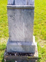 J. George Buery head stone - back side